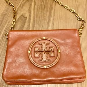 Tory Burch Brown leather cross body